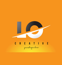 Lo l o letter modern logo design with yellow vector