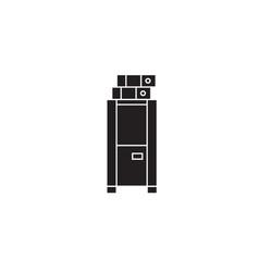locker cabinet black concept icon locker vector image