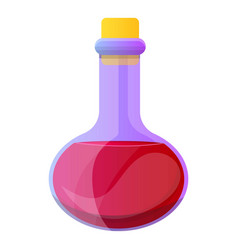 Magic red potion icon cartoon style vector