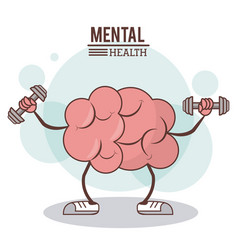 Mental health concept brain training exercise vector