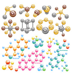 molecule molecular chemistry or biology and vector image