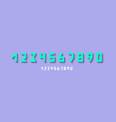 numbers set modern styleicons vector image