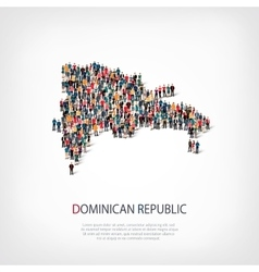 people map country Dominican Republic vector image