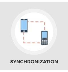 Phone sync flat icon vector