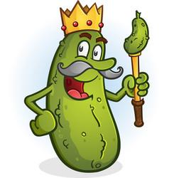 Pickle king cartoon character vector