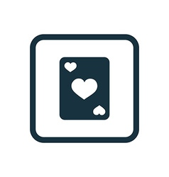 poker icon Rounded squares button vector image