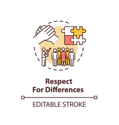 Respect for differences concept icon vector