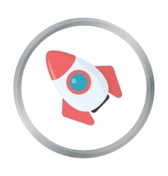 Rocket cartoon icon for web and vector image