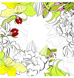 romantic summer background vector image vector image