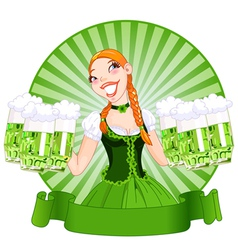 Saint Patricks Day Girl vector