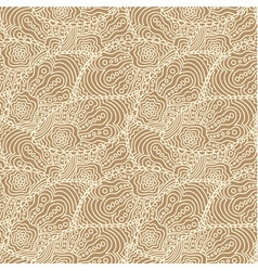 Seamless beige doodle paisley pattern vector image
