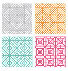 seamless geometric line pattern in korean style vector image