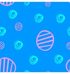 Seamless pattern with hand drawn circles eps10 vector image