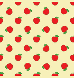 seamless pattern with patchwork red apples vector image