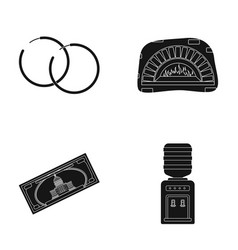 Sergey a pizza oven and other web icon in black vector