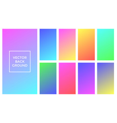 soft colors background gradient palette vector image
