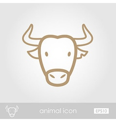 Spanish bull buffalo icon Animal head vector