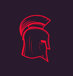 Spartan helmet outline vector