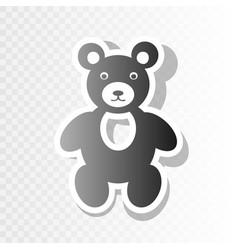 teddy bear sign new year vector image vector image