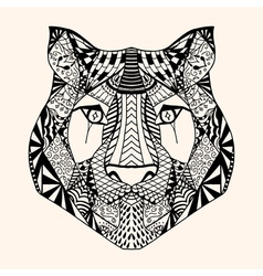 Tiger with abstract pattern vector image