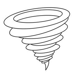 Tornado icon outline style vector