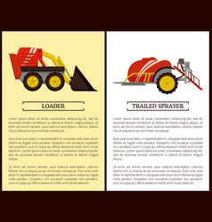 Trailed sprayer and loader vector