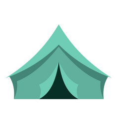 turquoise tent icon isolated vector image