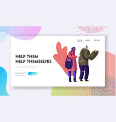 Voluntary and donation help to bums website vector