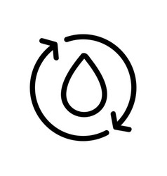 Water purification icon isolated contour vector