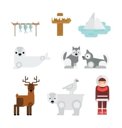 Wild north arctic people vector image