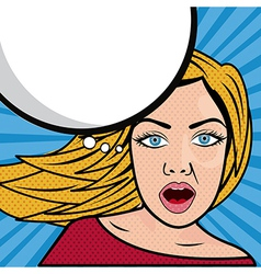 Woman comics over white background vector
