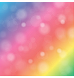 Abstract blurred background of rainbow shiny vector