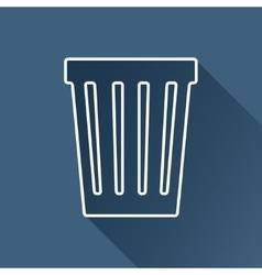 basket icon Eps10 vector image vector image