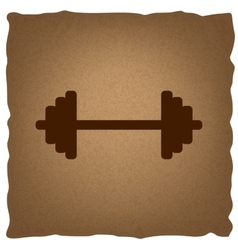 Dumbbell weights sign vector image vector image