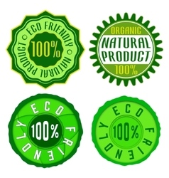Eco friendly stamp vector image