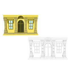 entrance and two windows vector image vector image