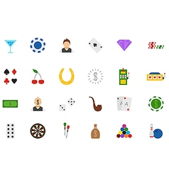 Game of chance icons set vector image