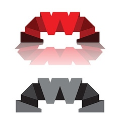 Letter W stylized design vector image vector image