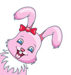 smiling rabbit cartoon girl beautiful bunny vector image