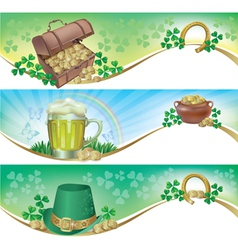 St Patricks Day horizontal banners vector image