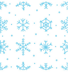 various blue snowflake seamless pattern winter vector image vector image
