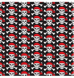 background pattern with pirate skull vector image vector image