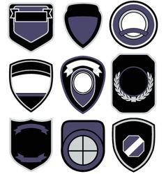 badge shape icon set vector image vector image