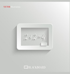 Blackboard icon - education background vector image
