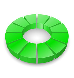 Green circular diagram isolated on white vector