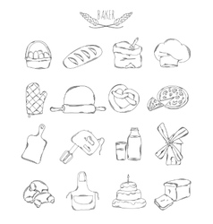 Professional collection of icons and elements Set vector image vector image