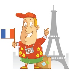 tourist travel france vector image