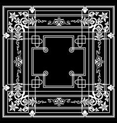 Black Ornate Frame Quad vector image