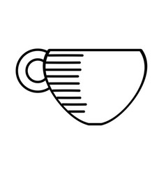 Coffee cup hot beverage outline vector