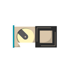 computer hdd drive disk icon floppy drive memory vector image